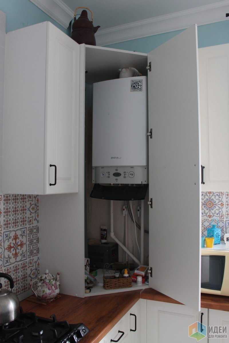 Как спрятать газовый котел на кухне: варианты с фото   всёокухне.ру