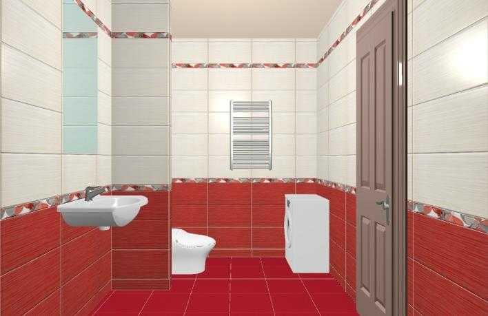 Варианты раскладки плитки в ванной и туалете