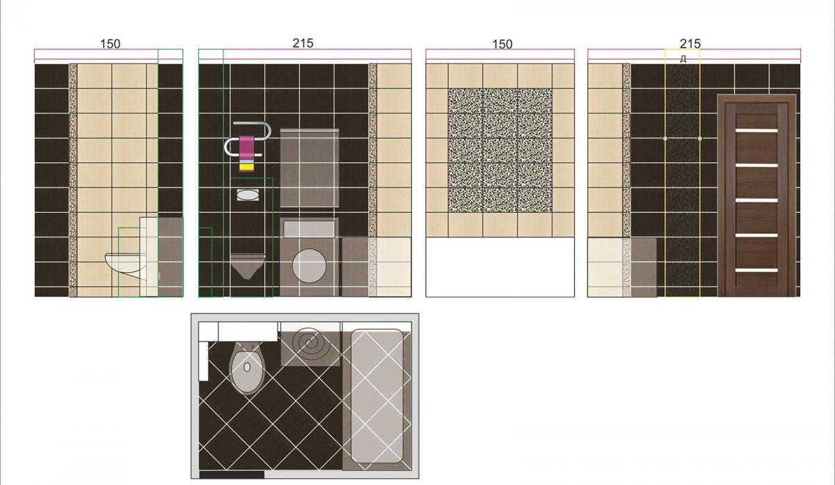 Укладка плитки в ванной - схемы раскладки и советы по выбору раствора для напольного покрытия в ванную