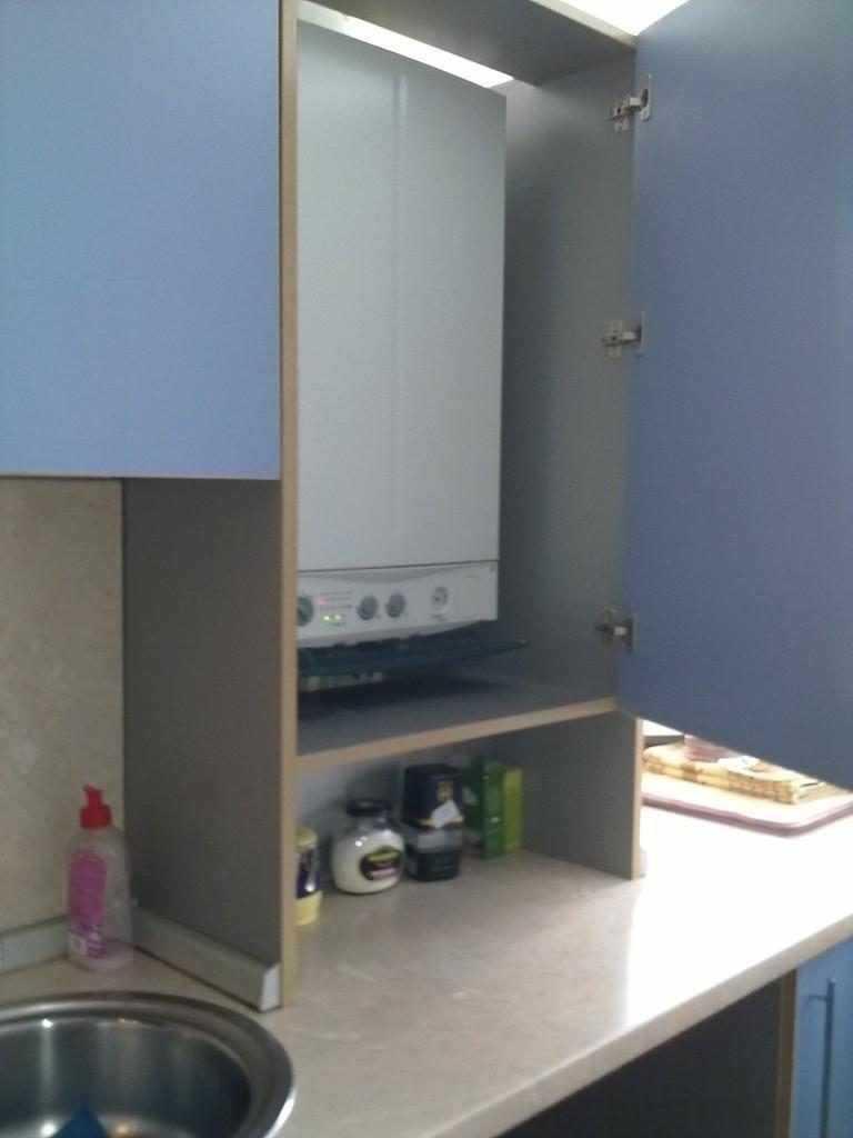 Можно ли спрятать газовый котел на кухне: фото идеи