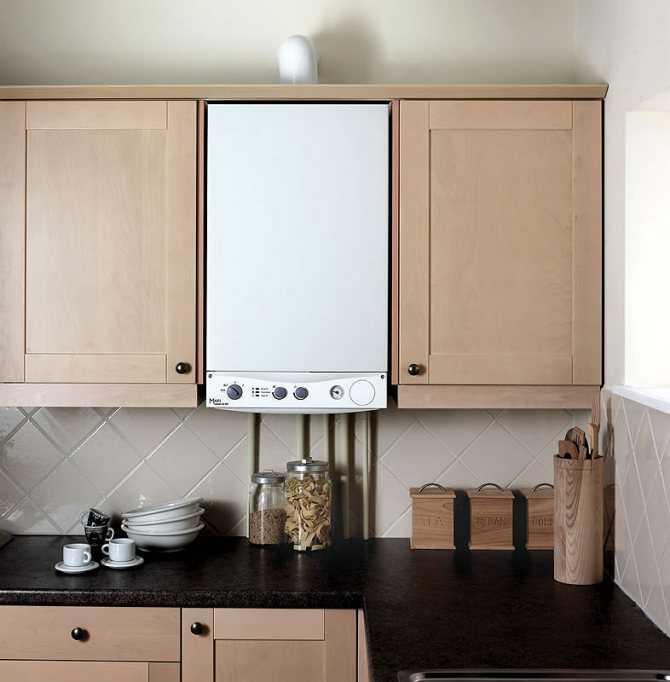 Газовый котел на кухне: как спрятать устройство, особенности дизайна помещения вместе с прибором на газу, фото готовых решений