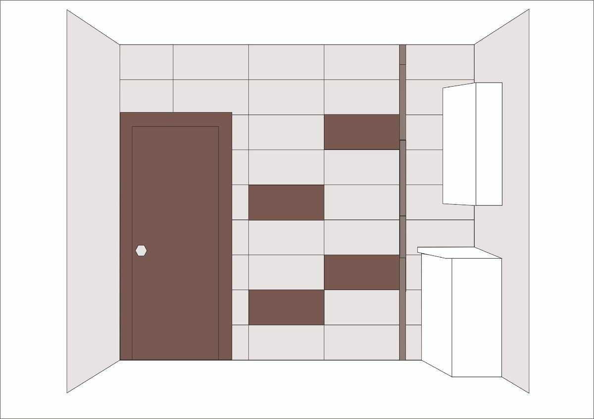 Раскладка плитки в ванной - 65 фото интерьеров