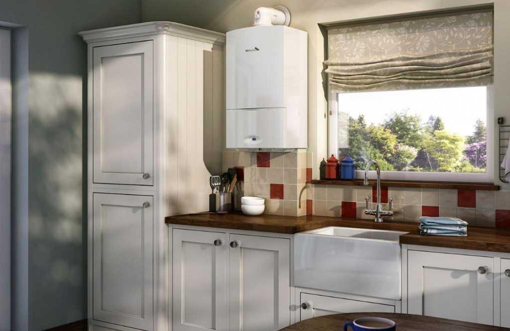 Как спрятать газовый котел на кухне: варианты с фото